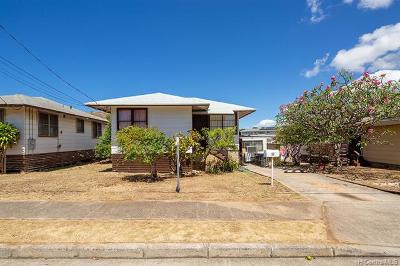Honolulu Single Family Home For Sale: 610 Hunalewa Street