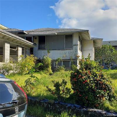 Honolulu Single Family Home For Sale: 1780 Kuikele Street