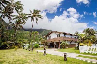 Kaaawa Single Family Home For Sale: 51-416 Kamehameha Highway #A