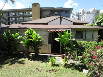 Honolulu Single Family Home For Sale: 1084 Kinau Street #F