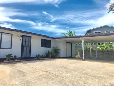 Single Family Home For Sale: 2468 Aumakua Street