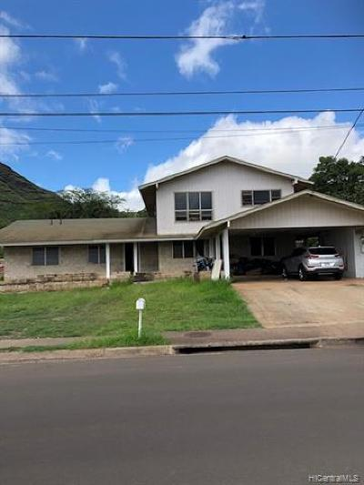 Waianae Single Family Home For Sale: 89-148 Pililaau Avenue