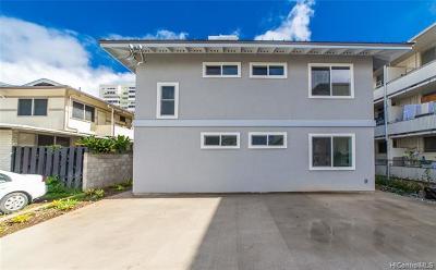 Single Family Home For Sale: 1531 Kewalo Street #D