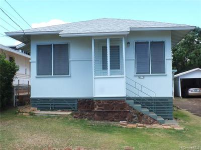 Single Family Home For Sale: 4018 Maunaloa Avenue