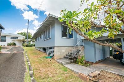 Honolulu Single Family Home For Sale: 2046 Makanani Drive