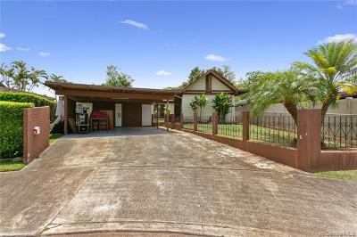 Mililani Single Family Home For Sale: 95-573 Nawenewene Circle