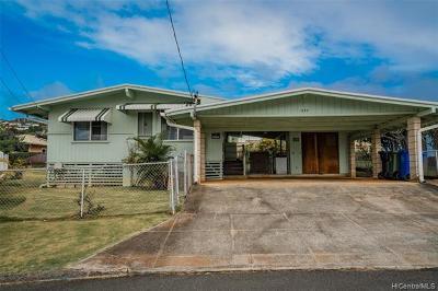 Kailua Single Family Home In Escrow Showing: 1353 Akaiki Street