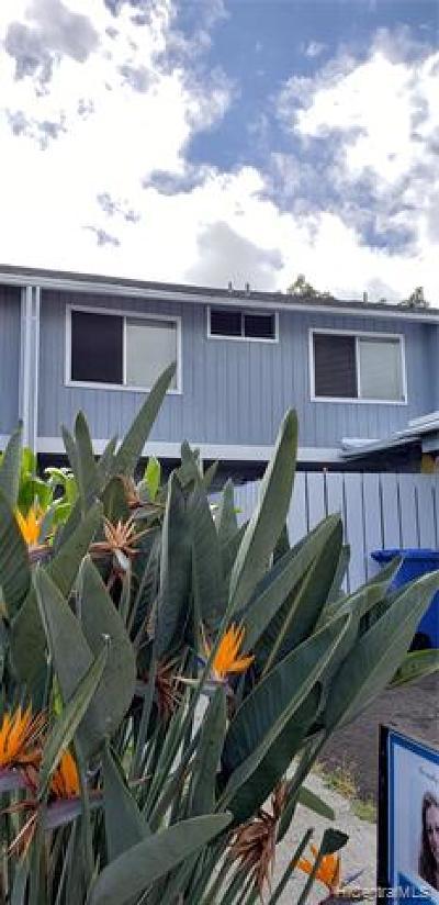 Waimanalo Condo/Townhouse For Sale: 41-718 Kaaumoana Place #73