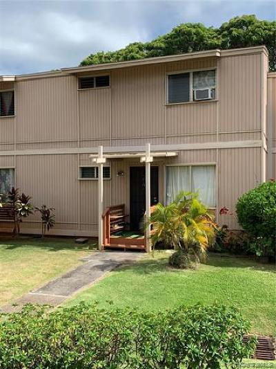 Pearl City Condo/Townhouse For Sale: 98-1355 Nola Street #D