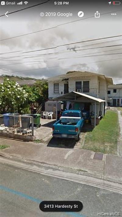 Honolulu Single Family Home For Sale: 3414 Hardesty Street