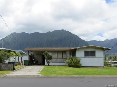 Kaneohe Single Family Home For Sale: 45-223 Mokulele Drive