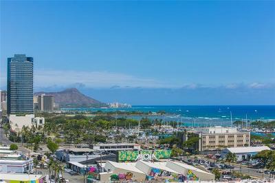 Honolulu County Condo/Townhouse For Sale: 600 Ala Moana Boulevard #1507