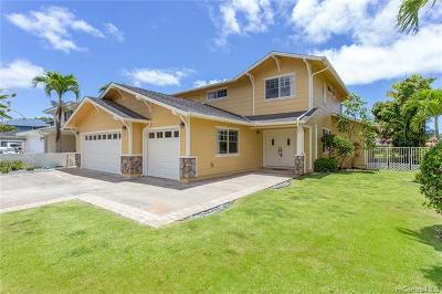 Kailua HI Single Family Home For Sale: $1,200,000