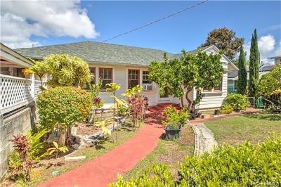 Honolulu HI Single Family Home For Sale: $1,099,000
