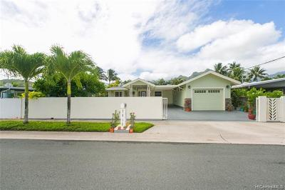 Kailua Single Family Home For Sale: 1021 Akumu Street