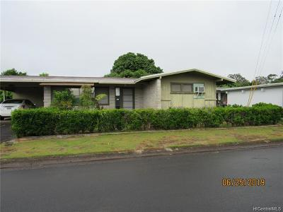Wahiawa Single Family Home For Sale: 64 California Avenue