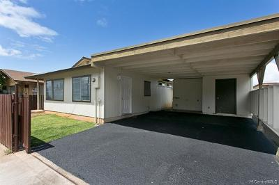 Honolulu County Single Family Home In Escrow Showing: 84-495 Nukea Street