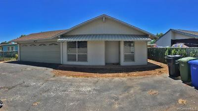 Honolulu County Single Family Home In Escrow Showing: 87-673 Manuaihue Street