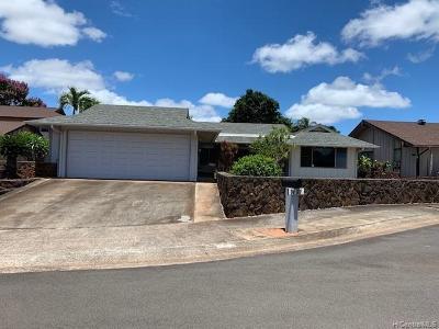 Mililani Single Family Home For Sale: 94-187 Mamolani Place