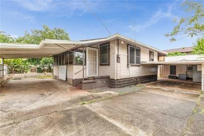 Honolulu County Single Family Home In Escrow Showing: 1121 Auwai Drive