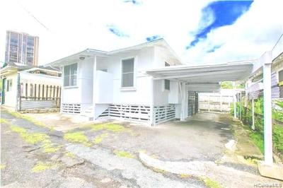 Honolulu Single Family Home For Sale: 2111a Booth Road #A