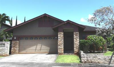 Mililani Single Family Home For Sale: 95-1033 Hoama Street