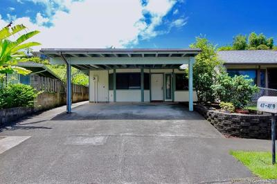 Kaneohe Single Family Home For Sale: 47-469 Alawiki Street