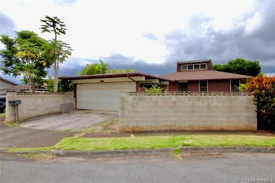 Mililani Single Family Home For Sale: 95-287 Kaaona Place