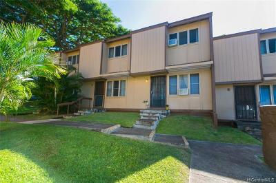 Pearl City Condo/Townhouse For Sale: 98-1395 Hinu Place #D
