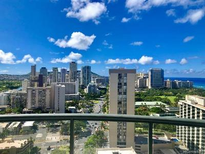 Honolulu, Kailua, Waimanalo, Honolulu, Kaneohe Condo/Townhouse For Sale: 1837 Kalakaua Avenue #2604