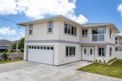 Kailua Single Family Home For Sale: 443 Kawainui Street #443 & 44