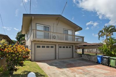 Pearl City Single Family Home For Sale: 1361 Hoohui Street