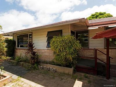 Kailua Single Family Home For Sale: 1109 Loho Street