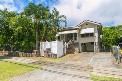 Honolulu Single Family Home For Sale: 2116 Wilder Avenue