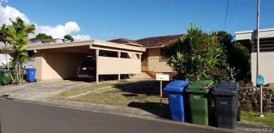 Aiea Single Family Home For Sale: 98-123 Kalike Place