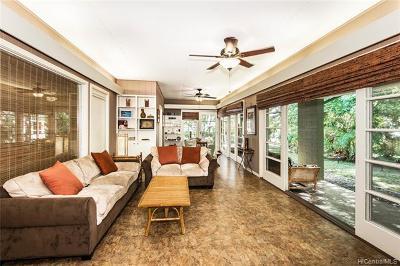 Kailua Single Family Home For Sale: 1459 Aalapapa Drive