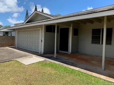 Mililani Single Family Home For Sale: 94-086 Kaweloalii Place
