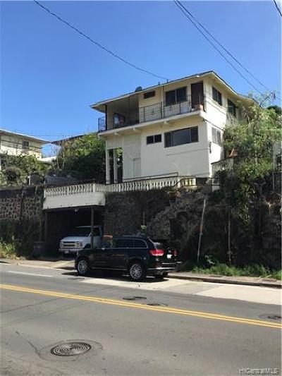 Honolulu Single Family Home For Sale: 1853 Kalihi Street
