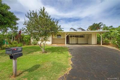 Kailua Single Family Home For Sale: 595 Uluhaku Street