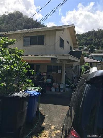 Honolulu Single Family Home For Sale: 2863 Kalihi Street
