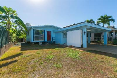 Ewa Beach Single Family Home For Sale: 91-769 Kilipoe Street