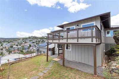 Honolulu Single Family Home For Sale: 1116 Maalaea Road