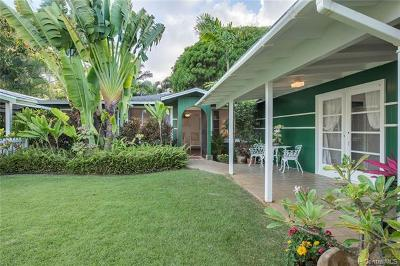 Kailua Single Family Home For Sale: 1521 Mokulua Drive