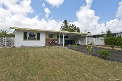 Kailua Single Family Home For Sale: 1562 Uluhaku Place