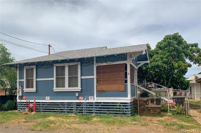 Honolulu Single Family Home For Sale: 1718 Eluwene Street #A