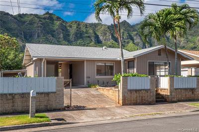 Honolulu County Single Family Home In Escrow Not Showing: 41-212 Ilauhole Street