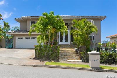 Honolulu Single Family Home For Sale: 1037 Hanohano Way