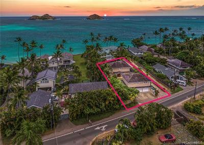 Kailua Single Family Home For Sale: 1408 Mokulua Drive