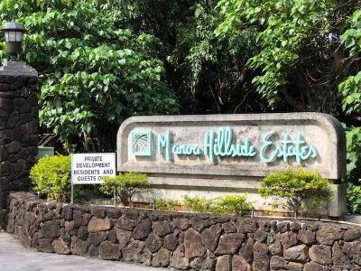 Honolulu Single Family Home For Sale: 2787 Kalawao Street #42