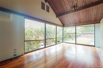 Honolulu Single Family Home For Sale: 3687 Woodlawn Terrace Place